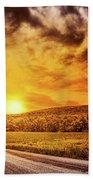 Marbled Sky Beach Towel
