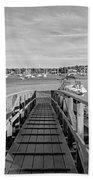 Marblehead Massachusetts Dock Beach Towel