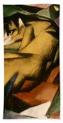 Marc: The Tiger, 1912 Beach Towel