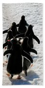 March Of Penguins Beach Towel