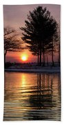 March Sunrise At Detroit Point Beach Towel