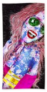 Mardi Gras Lady Beach Towel