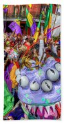 Mardi Gras Mob Beach Towel