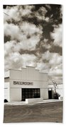 Marfa Ballroom In Sepia Beach Towel