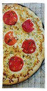 Margarita Pizza With Ingredients Beach Towel