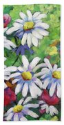 Marguerites 001 Beach Towel