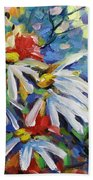 Marguerites Beach Towel