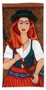 Maria Da Fonte - The Revolt Of Women Beach Towel