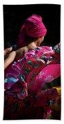 Mariachi Dancer 4 Beach Sheet