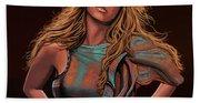 Mariah Carey Painting Beach Towel