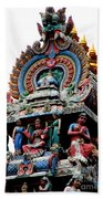 Mariamman Temple Detail 3 Beach Towel