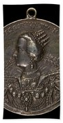 Marie Eleonora Of Brandenburg, 1599-1655, Queen Of Sweden 1620 [reverse] Beach Towel