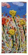 Marigold Flower Garden Beach Towel
