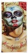 Marilyn Monroe Jfk Day Of The Dead  Beach Sheet