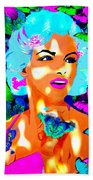 Marilyn Monroe Light And Butterflies Beach Towel