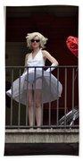 Marilyn Monroe Lookalike Beach Sheet
