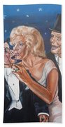Marilyn Monroe Marries Charlie Mccarthy Beach Towel