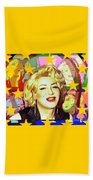Marilyn Superstar Pop Beach Towel