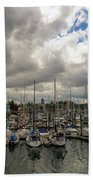 Marina In Olympia Washington Waterfront Beach Towel