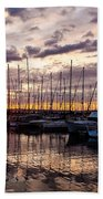 Marina Sunset Beach Towel
