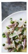 Marinated Tuna Vegetable And Herb Salad Beach Towel