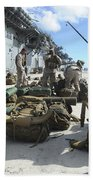 Marines Move Gear During An Embarkation Beach Towel