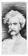 Mark Twain In His Own Words Beach Towel