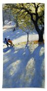 Markeaton Park Early Snow Beach Towel