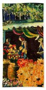 Market In Provence Beach Towel