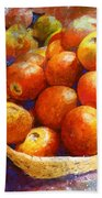 Market Tomatoes Beach Towel