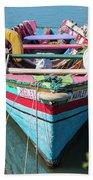 Marley Rowboat Rodney Bay Saint Lucia Beach Towel
