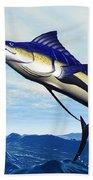 Marlin Jump Beach Towel by Corey Ford