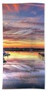 Marlin Quay Marina At Sunset Beach Towel