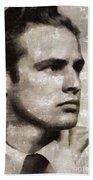 Marlon Brando, Vintage Actor Beach Towel