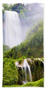 Marmore Waterfalls Italy Beach Towel