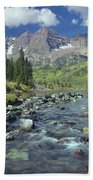 210404-maroon Bells And Creek  Beach Towel