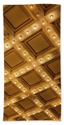 Marquee Lights On Theater Ceiling Beach Sheet