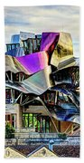 marques de riscal Hotel at sunset - frank gehry Beach Towel