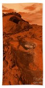 Mars Landscape Beach Towel