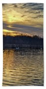 Marsh Ripple Pond Beach Towel
