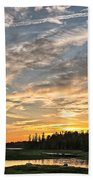 Marsh Sunset Beach Towel