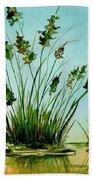 Marsh Weeds Beach Towel