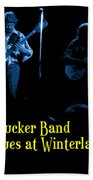 Marshall Tucker Winterland 1975 #18 Enhanced In Blue With Text Beach Towel