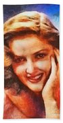 Martha Vickers, Vintage Hollywood Actress Beach Towel