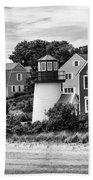 Hyannis Lighthouse Bw Beach Towel