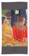 marthe in red blouse c1928 Pierre Bonnard Beach Towel