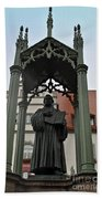 Martin Luther In Market Square Beach Towel