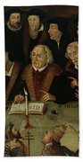 Martin Luther In The Circle Of Reformers Beach Towel