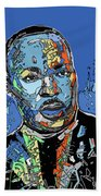 Martin Luther King Color Beach Towel