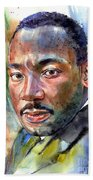 Martin Luther King Jr. Painting Beach Sheet
